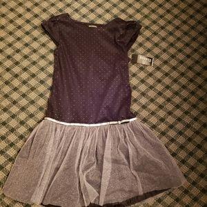 NEW girls Large 10-12 Black Sparkle Dress